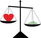 Corazón y dinero ilustración del vector