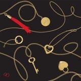 Corazón y encadenamiento Imagen de archivo libre de regalías