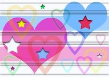 Corazón y estrellas Foto de archivo