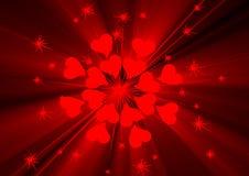 Corazón y estrellas Fotos de archivo
