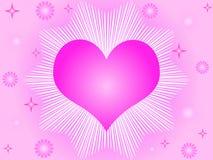 Corazón y estrellas rosados libre illustration