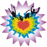 Corazón y familia (vector) ilustración del vector
