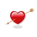 Corazón y flecha Fotos de archivo libres de regalías