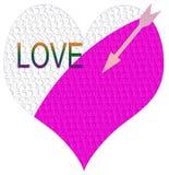 Corazón y flecha del amor Imagenes de archivo