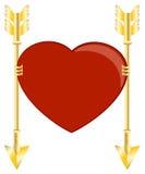 Corazón y flechas Imagen de archivo libre de regalías