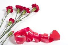 Corazón y flores Imagen de archivo