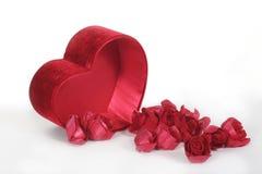 Corazón y flores del día de tarjeta del día de San Valentín Foto de archivo