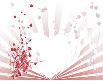 Corazón y fondo abstractos de la vid stock de ilustración