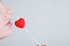 Corazón y labios Imagenes de archivo