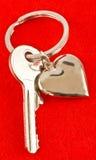 Corazón y llave Imagenes de archivo