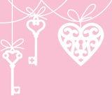Corazón y llave maestra Foto de archivo libre de regalías