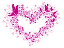 Corazón y mariposa de encaje ilustración del vector