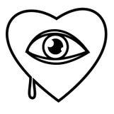 Corazón y ojo Fotografía de archivo