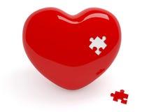 Corazón y rompecabezas Fotos de archivo libres de regalías