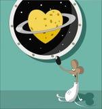 Corazón y Saturn Imagen de archivo libre de regalías
