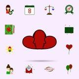 Coraz?n, cara, icono rojo, bicolor Sistema universal del 8 de marzo para el dise?o y el desarrollo, desarrollo de la p?gina web d ilustración del vector