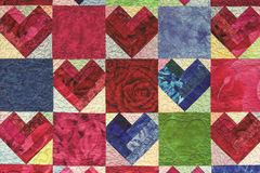 Corazón acolchado Fotos de archivo libres de regalías