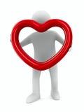 Corazón aislado en el fondo blanco Imágenes de archivo libres de regalías