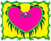 Corazón capítulo rodeado por Plants Fotografía de archivo