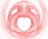 Corazón color de rosa con alas Imágenes de archivo libres de regalías
