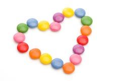 Corazón coloreado del caramelo Imagen de archivo