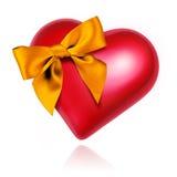 Corazón con el arqueamiento Imagen de archivo libre de regalías