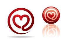 Corazón-correo Foto de archivo libre de regalías