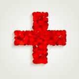 Corazón cruzado de la muestra Fotos de archivo libres de regalías