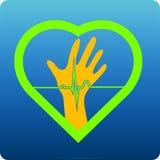 Corazón de ayuda Fotografía de archivo libre de regalías