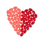 Corazón de la haba de jalea Foto de archivo libre de regalías