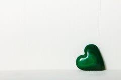 Corazón de la malaquita Foto de archivo libre de regalías