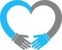 Corazón de la mano Foto de archivo libre de regalías