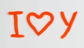 Corazón de la plastilina Fotos de archivo