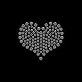 Corazón de la tarjeta del día de San Valentín del diamante Fotografía de archivo