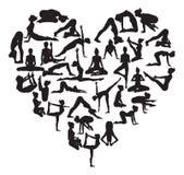 Corazón de la yoga Imagen de archivo