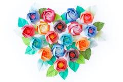Corazón de las rosas Imagen de archivo