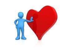 Corazón de las tarjetas del día de San Valentín Fotos de archivo