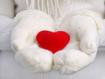 Corazón de mi tarjeta del día de San Valentín Foto de archivo