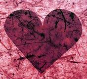 Corazón de papel rosado Fotografía de archivo