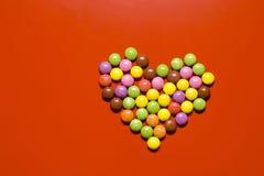 Corazón de píldoras Foto de archivo libre de regalías