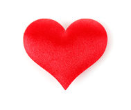 Corazón de seda Fotos de archivo libres de regalías