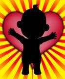 Corazón del bebé Foto de archivo libre de regalías