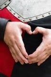 Corazón del caballero Imagen de archivo libre de regalías