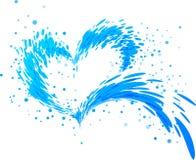 Corazón del chapoteo de la aguamarina Foto de archivo libre de regalías