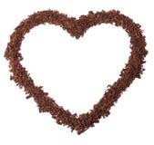 Corazón del chocolate Fotografía de archivo