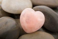 Corazón del cuarzo de Rose Fotos de archivo
