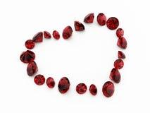 Corazón del diamante Imagen de archivo libre de regalías