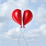 Corazón del globo junto Imágenes de archivo libres de regalías