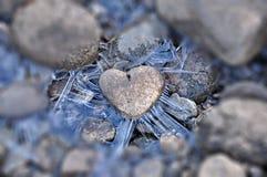 Corazón del hielo del cuento del invierno Imágenes de archivo libres de regalías