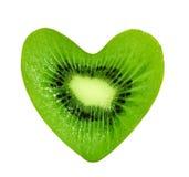 Corazón del kiwi Foto de archivo libre de regalías